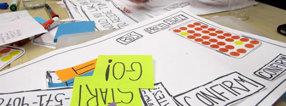 Creating paper prototypes are part of our UX practices